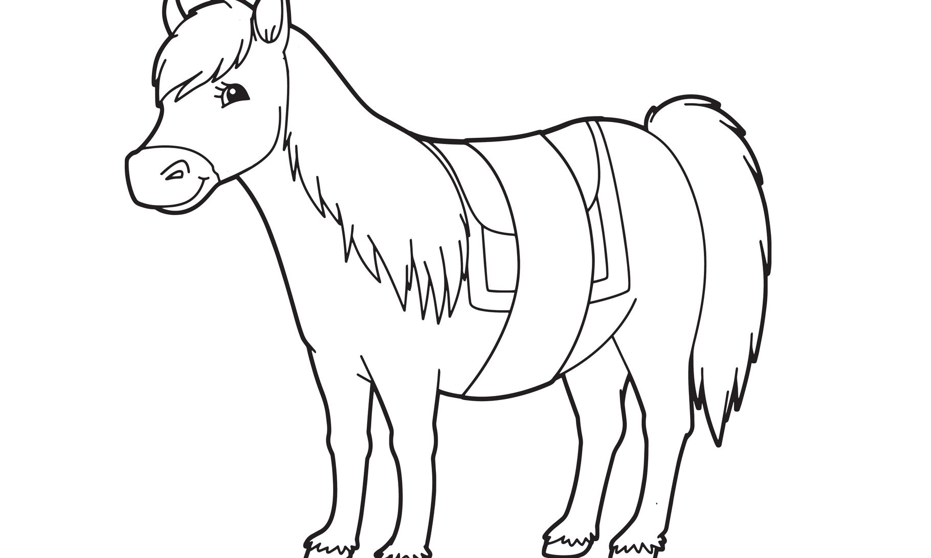 pferd  ausmalbild  sprachspielspass